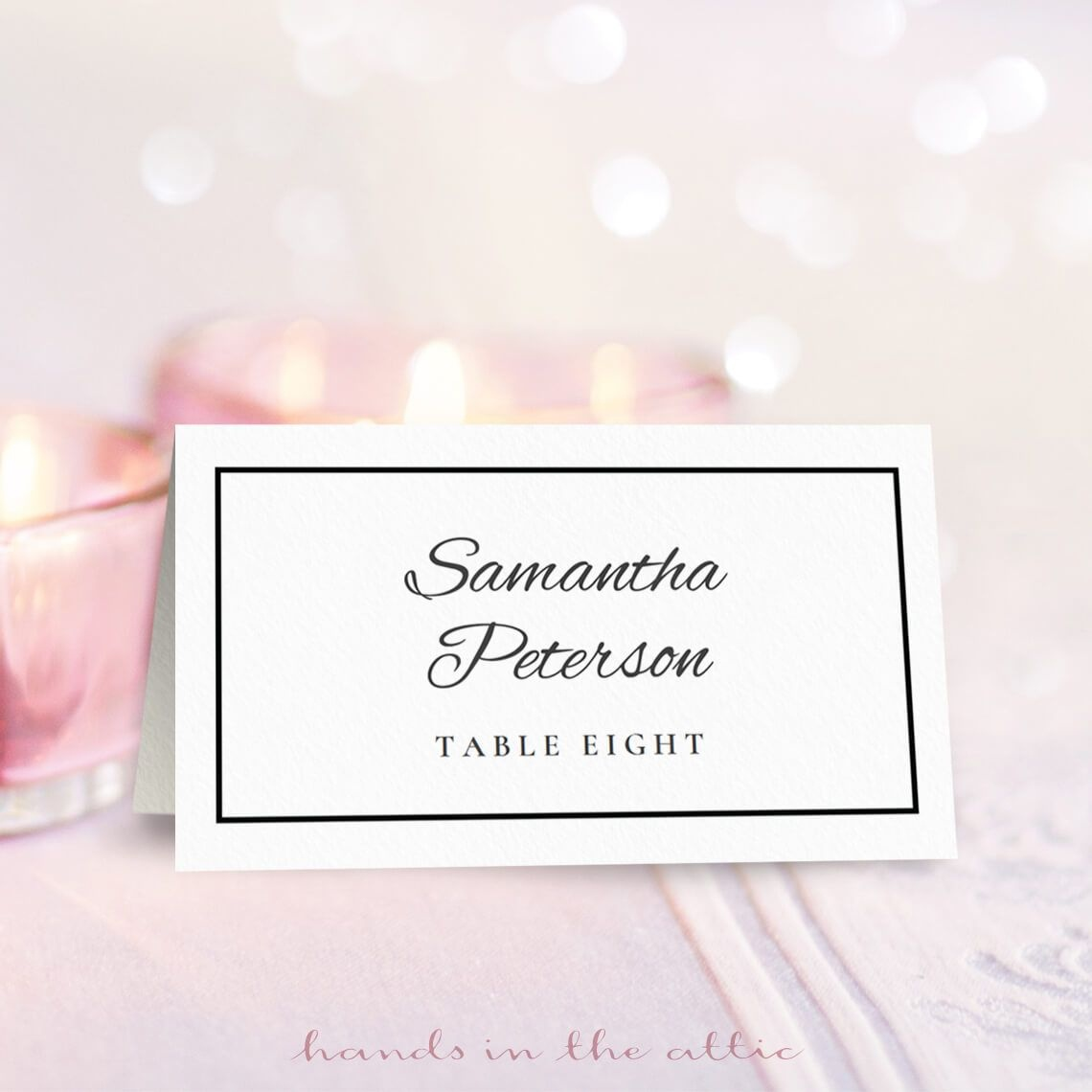 Wedding Place Card Template   Free On Handsintheattic   Free - Free Printable Damask Place Cards