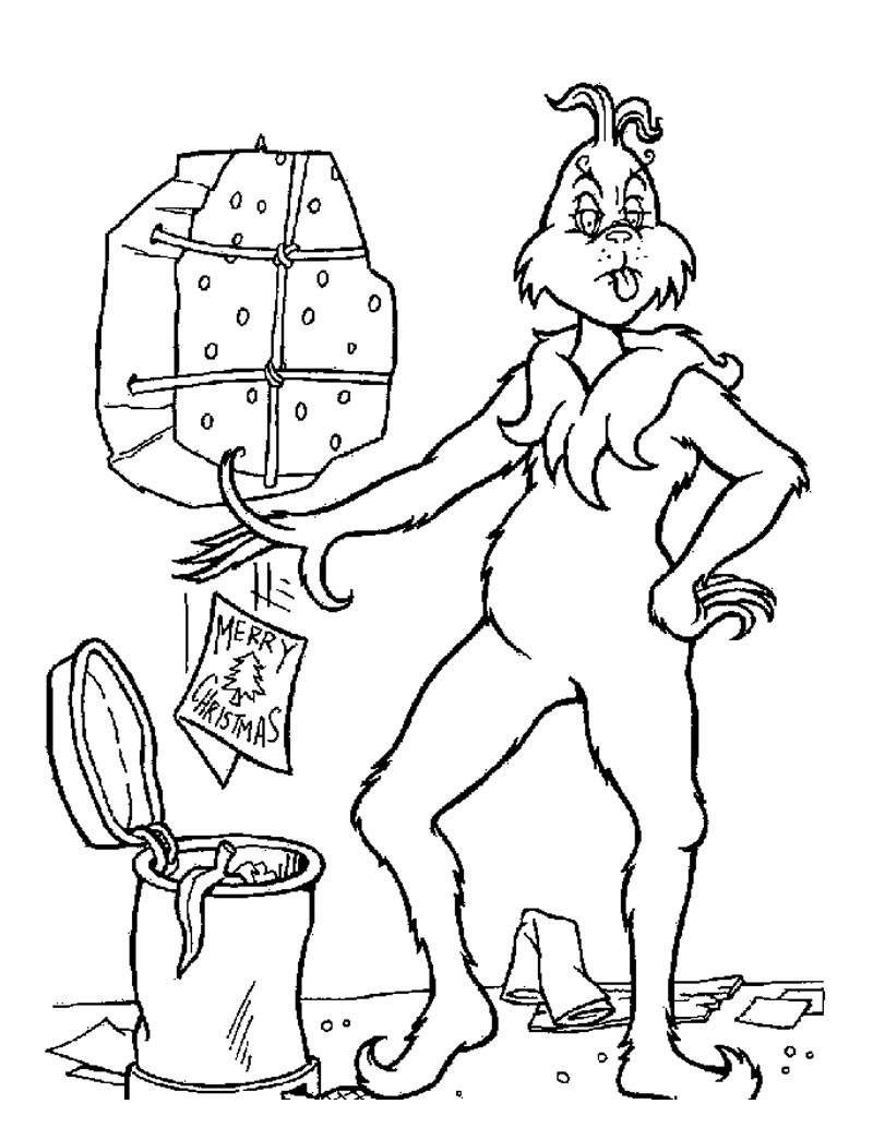 Whoville Lazy Grinch Coloring Page Coloring Page Holiday Coloring - Xmas Coloring Pages Free Printable