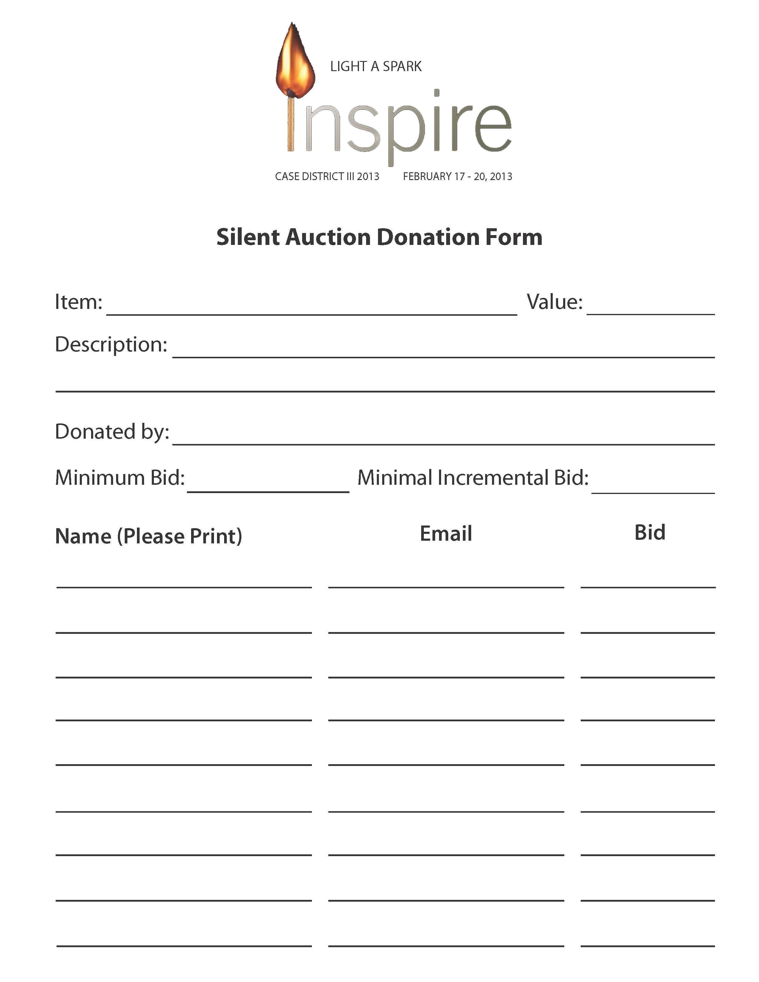 Wiitradwieri36/content/printable Silent Auction Bid Sheet 6891816 - Free Printable Silent Auction Bid Sheets