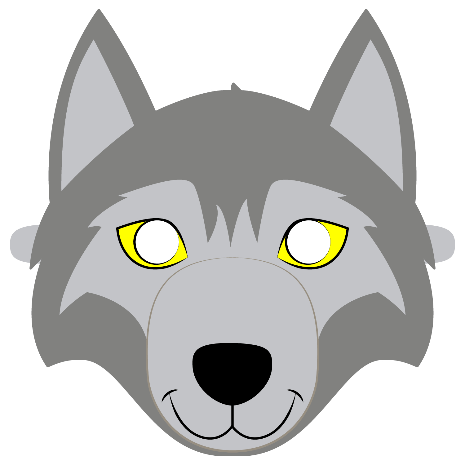 Wolf Mask Template   Free Printable Papercraft Templates - Free Printable Wolf Mask