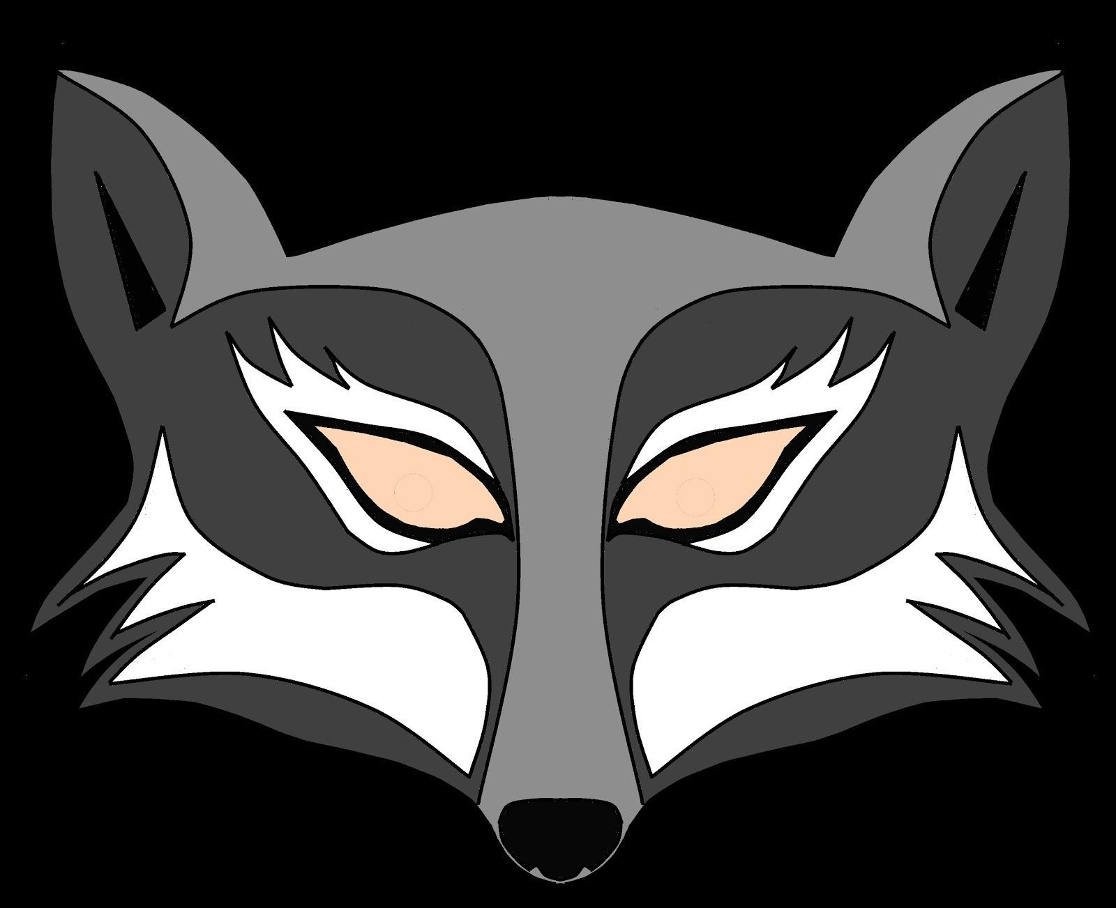 Wolf Mask Template Printable. Deer Head Clip Art At Clker Com Vector - Free Printable Wolf Mask