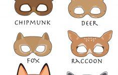 Woodland Forest Animals Printable Masks, Woodland Animal Mask, Bear – Free Printable Bear Mask