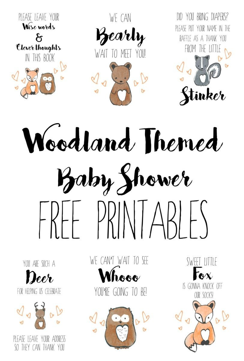 Woodland Themed Baby Shower - Free Printables   Parenting In 2019 - Free Printable Book Themed Baby Shower Invitations