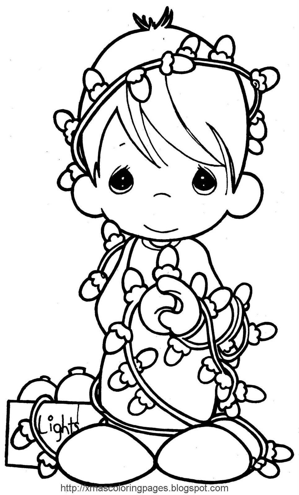 Xmas Coloring Pages | Coloring Pages | Precious Moments Coloring - Xmas Coloring Pages Free Printable