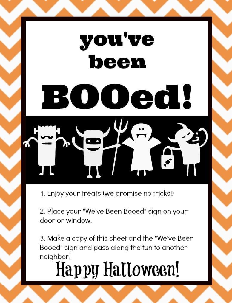 You've Been Booed! Mason Jar Gift & Free Printables   The Happier - You Ve Been Booed Free Printable