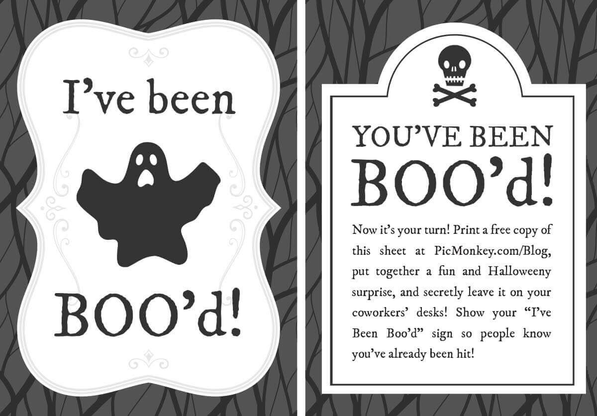 You've Been Booed Printables   Picmonkey Blog - You Ve Been Booed Free Printable
