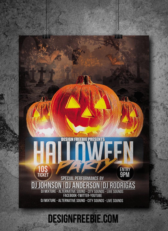 001 Template Ideas Free Printable Halloween Flyer Templates Unusual - Free Printable Halloween Flyer Templates
