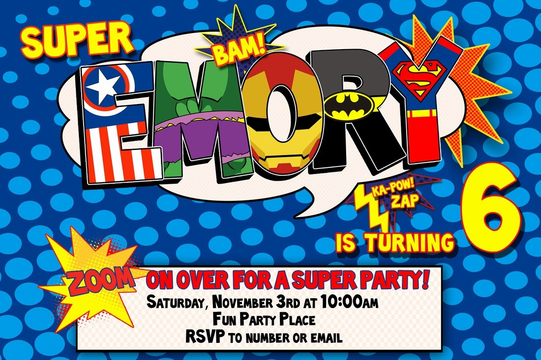 012 Template Ideas Free Superhero Invitation Awesome Birthday - Free Printable Superman Invitations