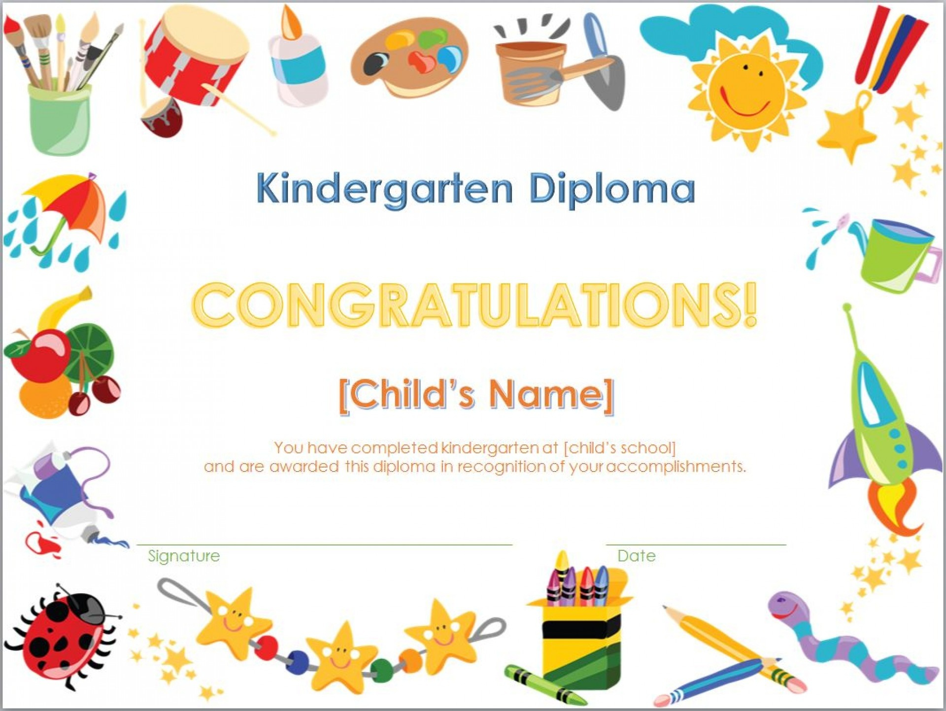 014 Free Printables X Graduation Certificate And Templates Template - Preschool Graduation Diploma Free Printable