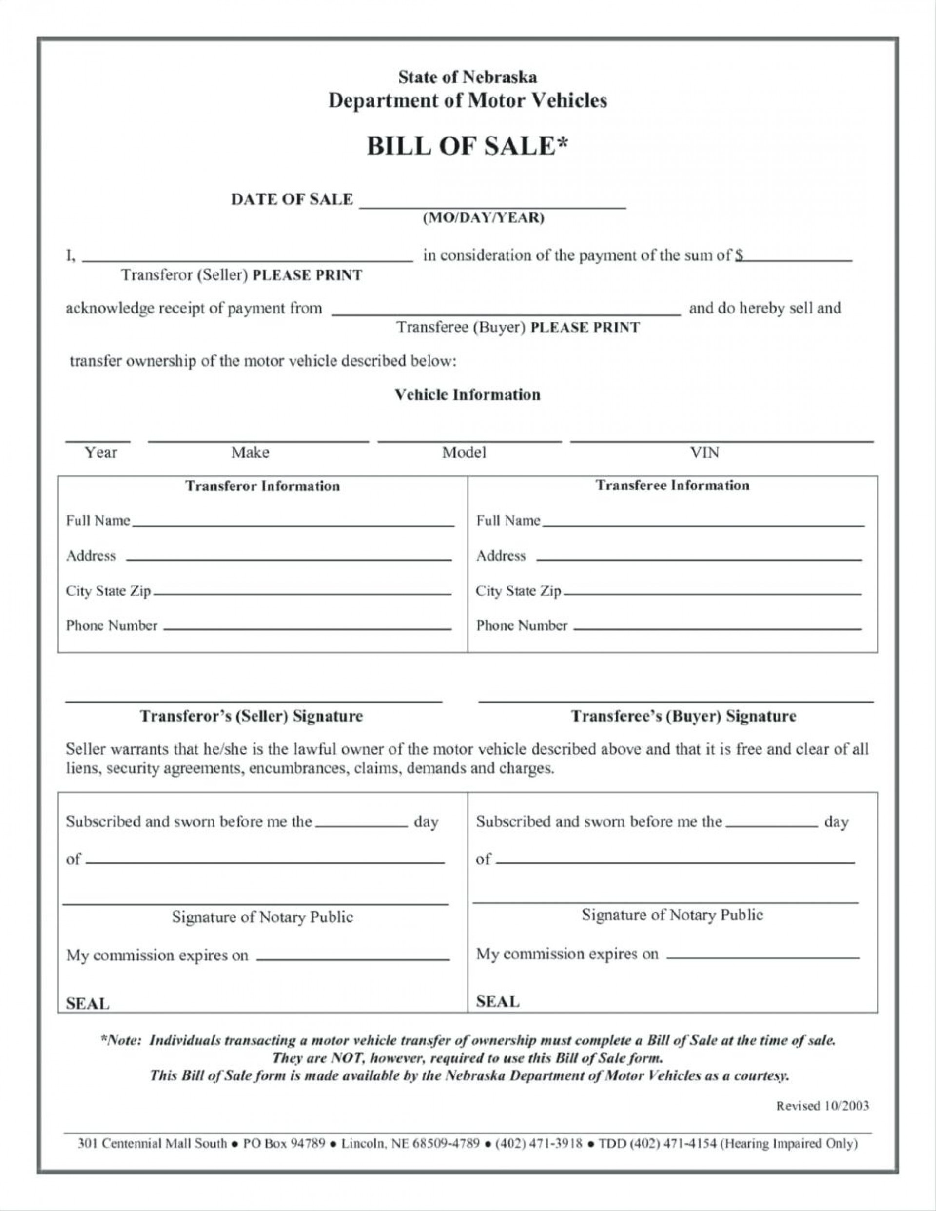 024 Free Printable Bill Of Sale Form Vehicle Template And For Mobile - Free Printable Bill Of Sale For Car