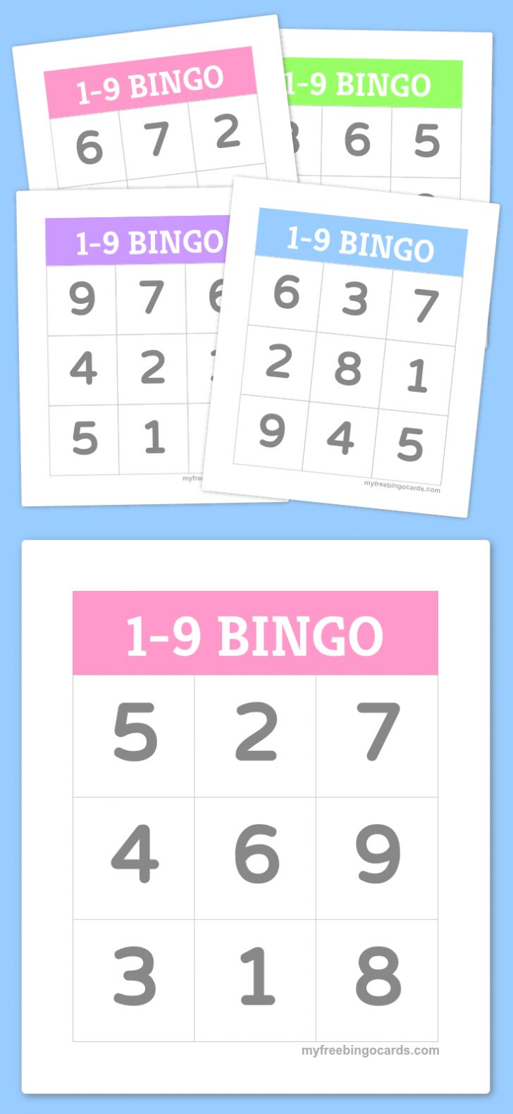 Free Printable Bingo Cards Random Numbers