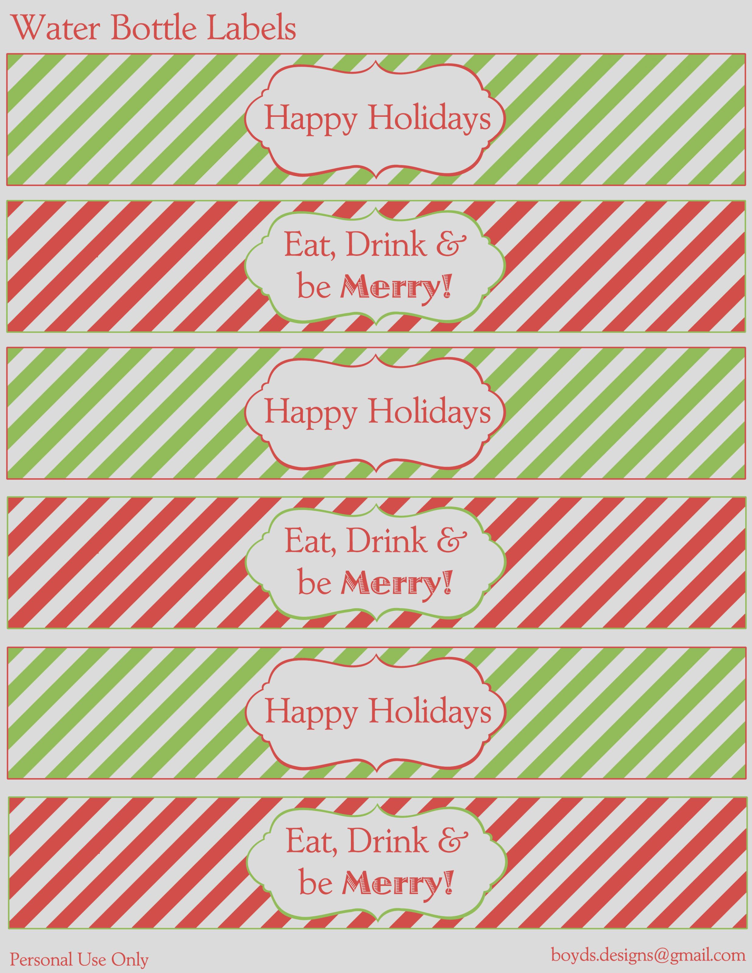 10 Days Of Christmas Diy Printable Freebies! Day 10 – Water Bottle - Christmas Water Bottle Labels Free Printable