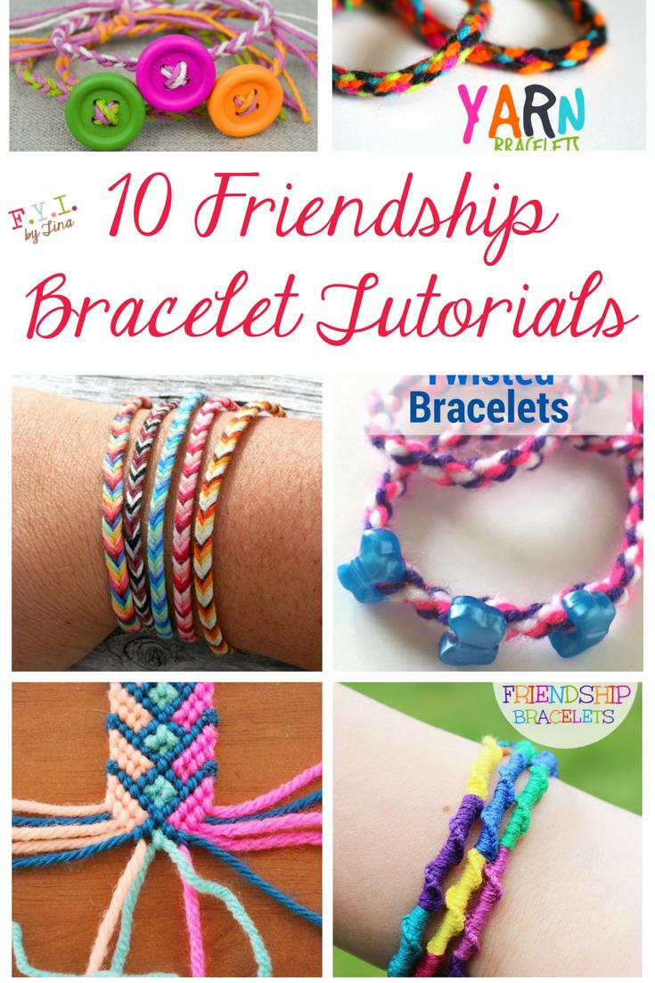 10 Friendship Bracelet Tutorials • Fyitina | Diy & Crafts - Free Printable Friendship Bracelet Patterns