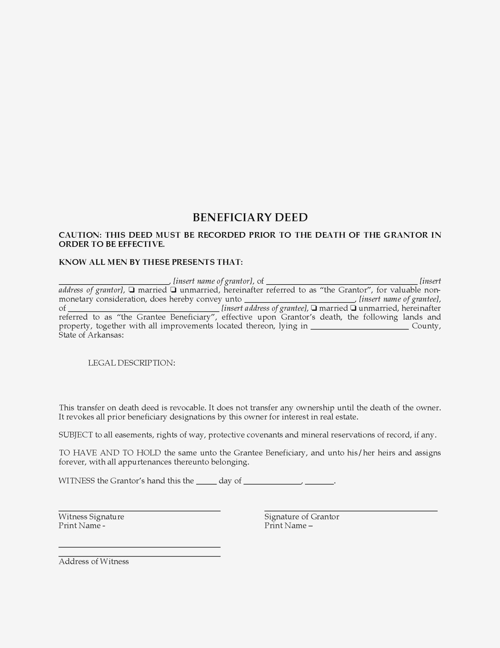 11 Elegant Free Printable Beneficiary Deed | Greatprintable – Form - Free Printable Beneficiary Deed