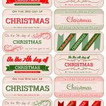12 Days Of Christmas Tags - Free Download!   Decking The Halls With - Free Printable 12 Days Of Christmas Gift Tags