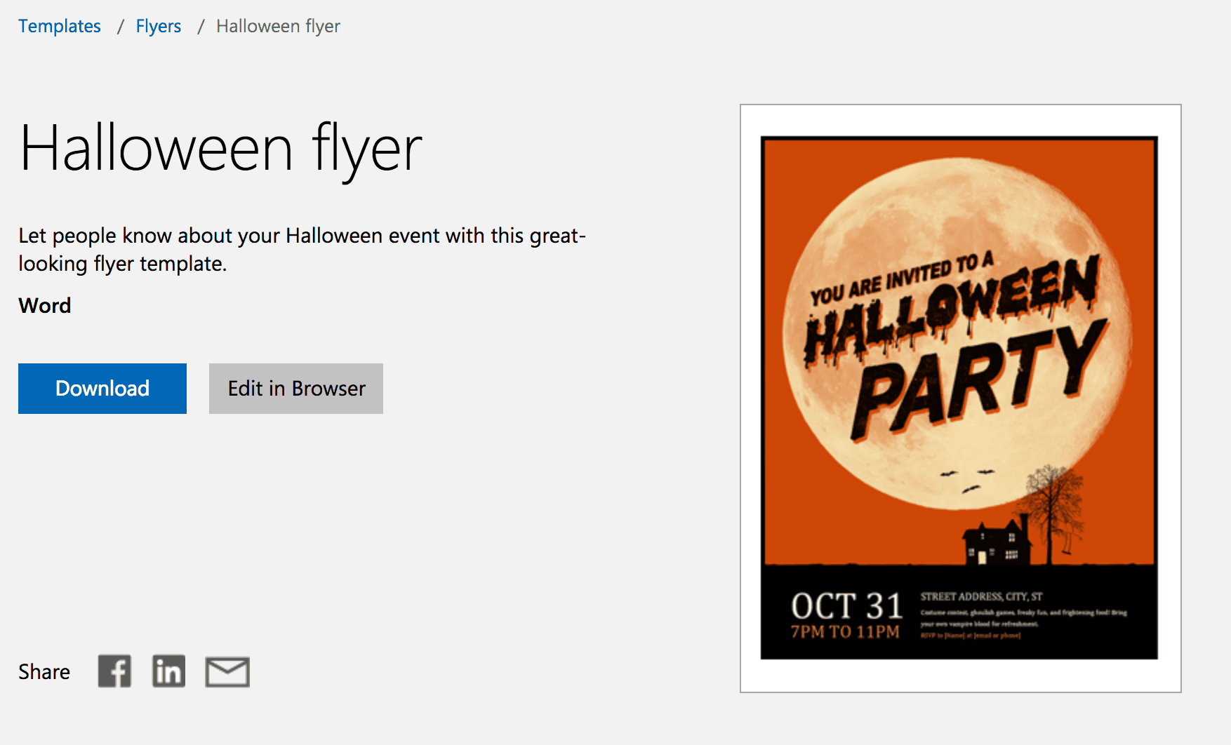 12 Free Halloween-Themed Templates For Microsoft Word - Free Printable Halloween Flyer Templates