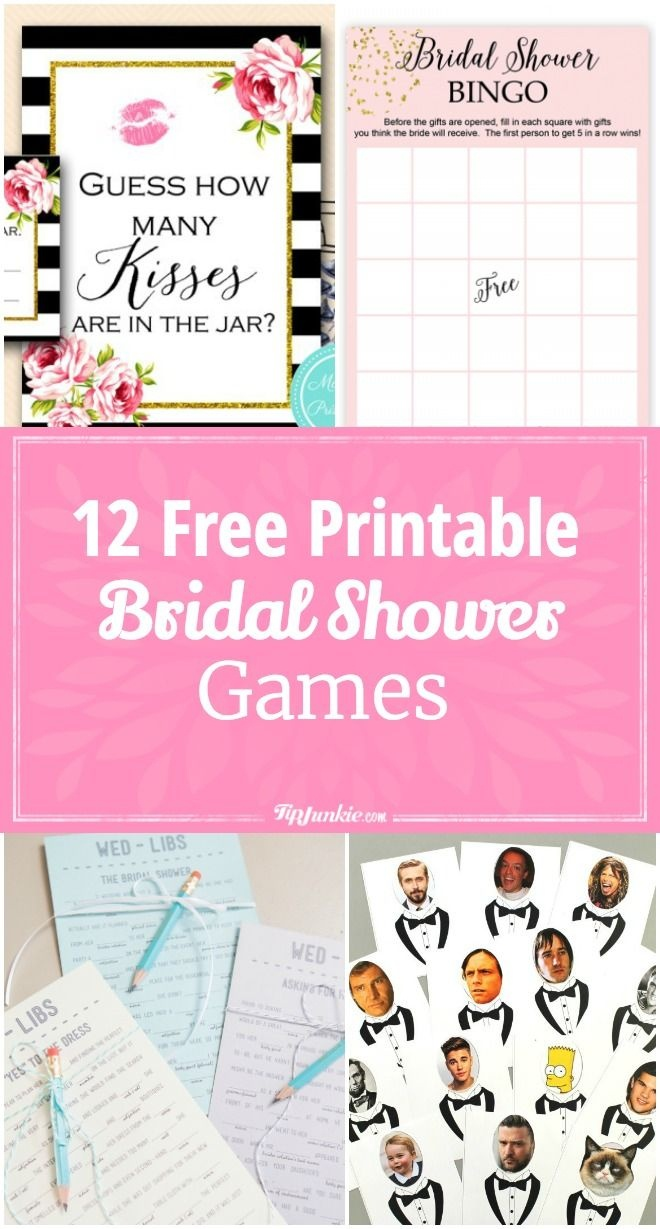 12 Free Printable Bridal Shower Games   Party Time   Free Bridal - Free Printable Household Shower Games
