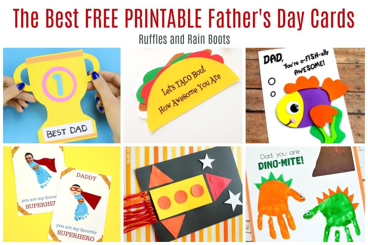 12 Free Printable Father's Day Cards - Free Printable Fathers Day Cards For Preschoolers