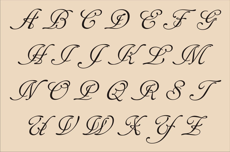 13 Printable Fancy Letter Fonts Images - Fancy Alphabet Letter - Free Printable Calligraphy Letter Stencils