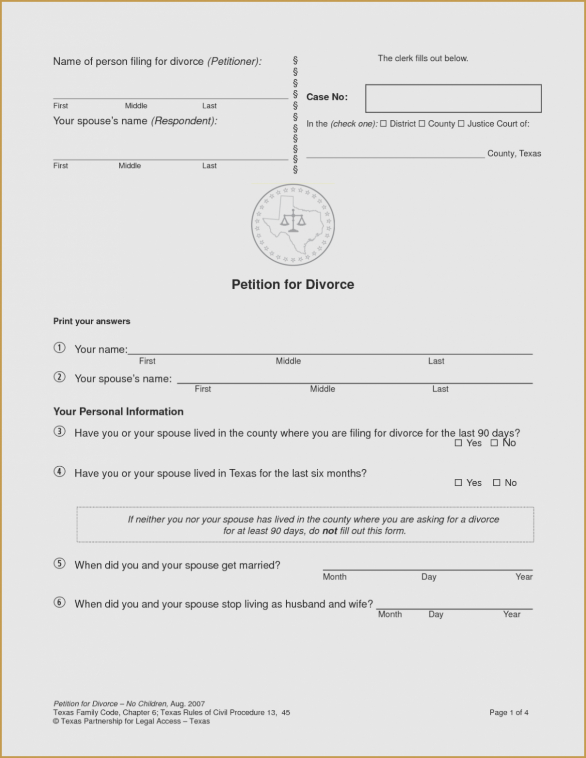 13 Small But Important Things To Observe In | Form Information - Free Printable Divorce Forms Texas