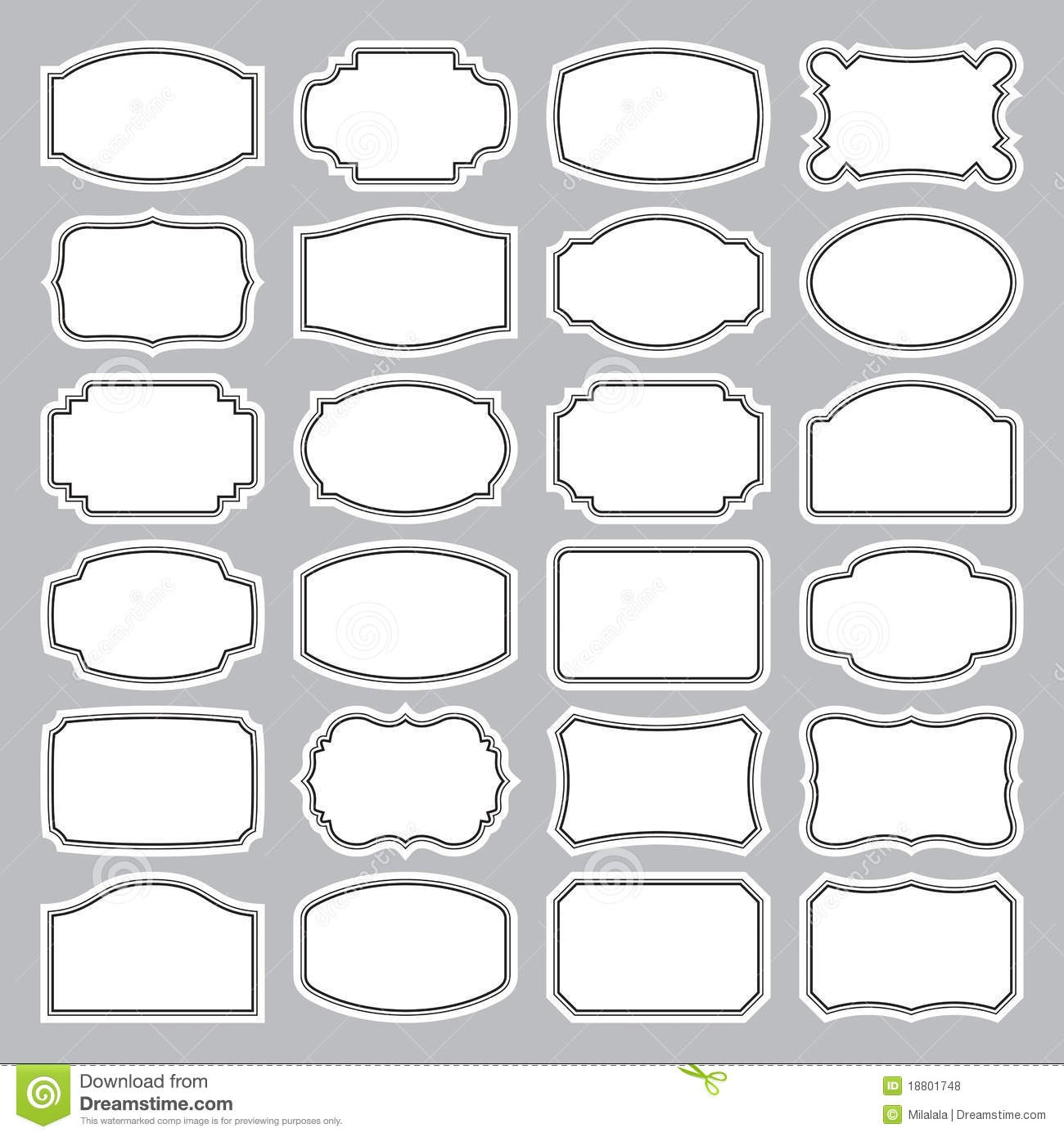 15 Blank Label Vector Images - Free Printable Blank Labels, Blank - Fancy Labels Printable Free