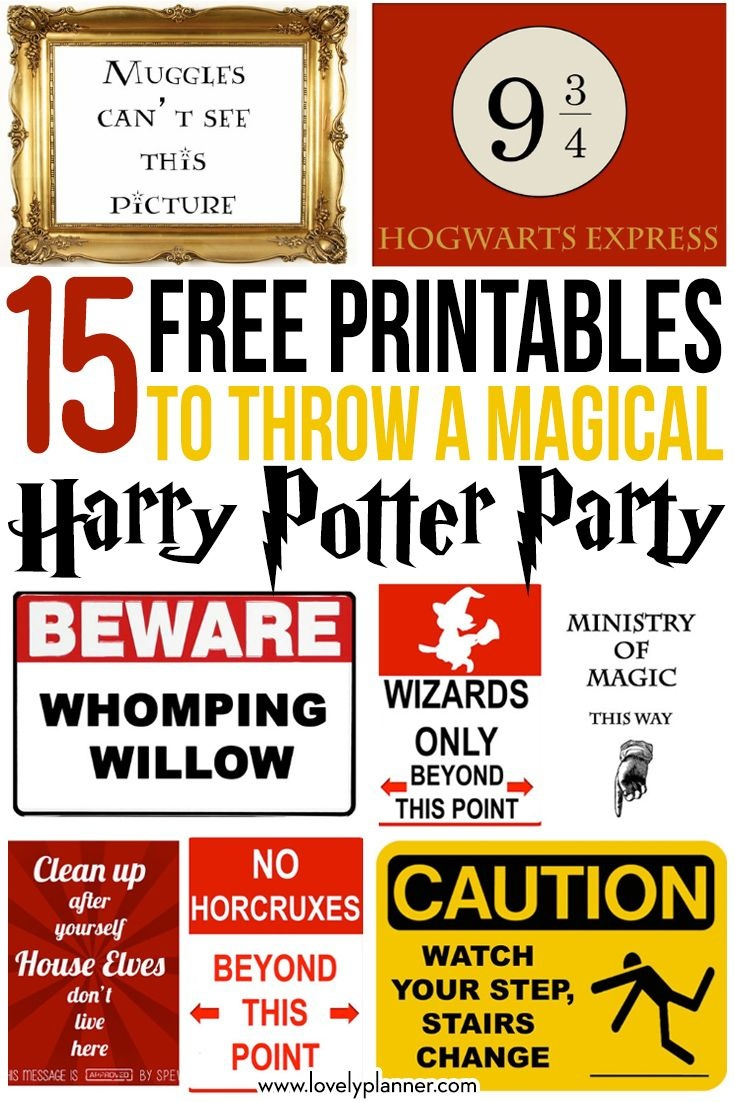 15 Free Harry Potter Party Printables - Part 1   Pokefeest - Harry - Free Printable Harry Potter Posters