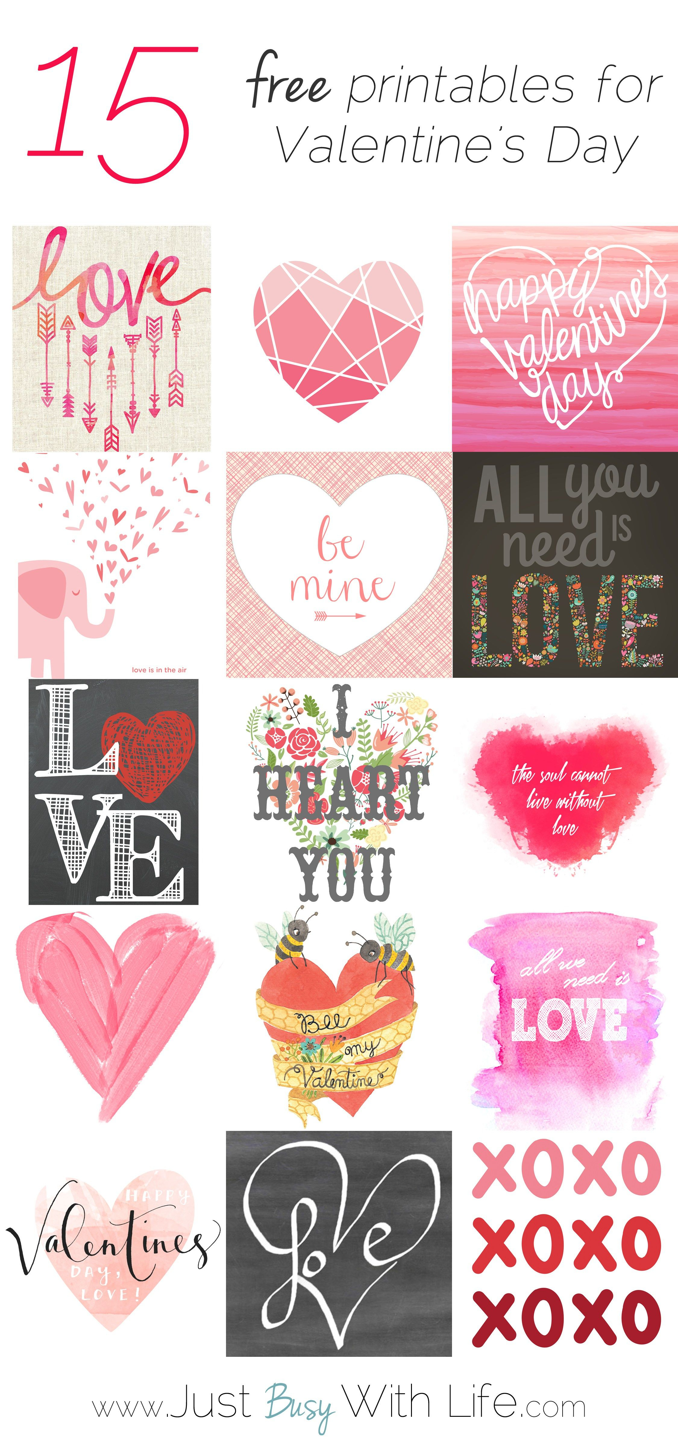 15 Free Valentine's Day Printables | Just Busy With Life - Free Printable Valentine Heart Patterns