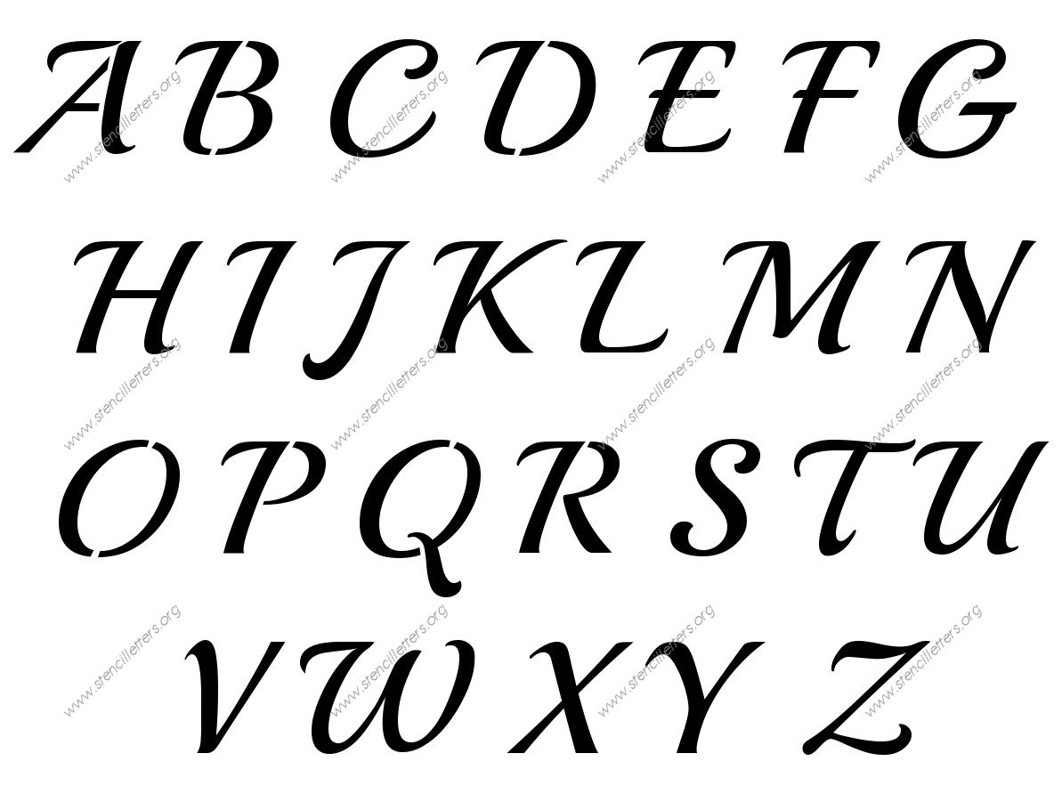 16 Calligraphy Alphabet Template Images - Old English Calligraphy - Free Printable Calligraphy Letter Stencils