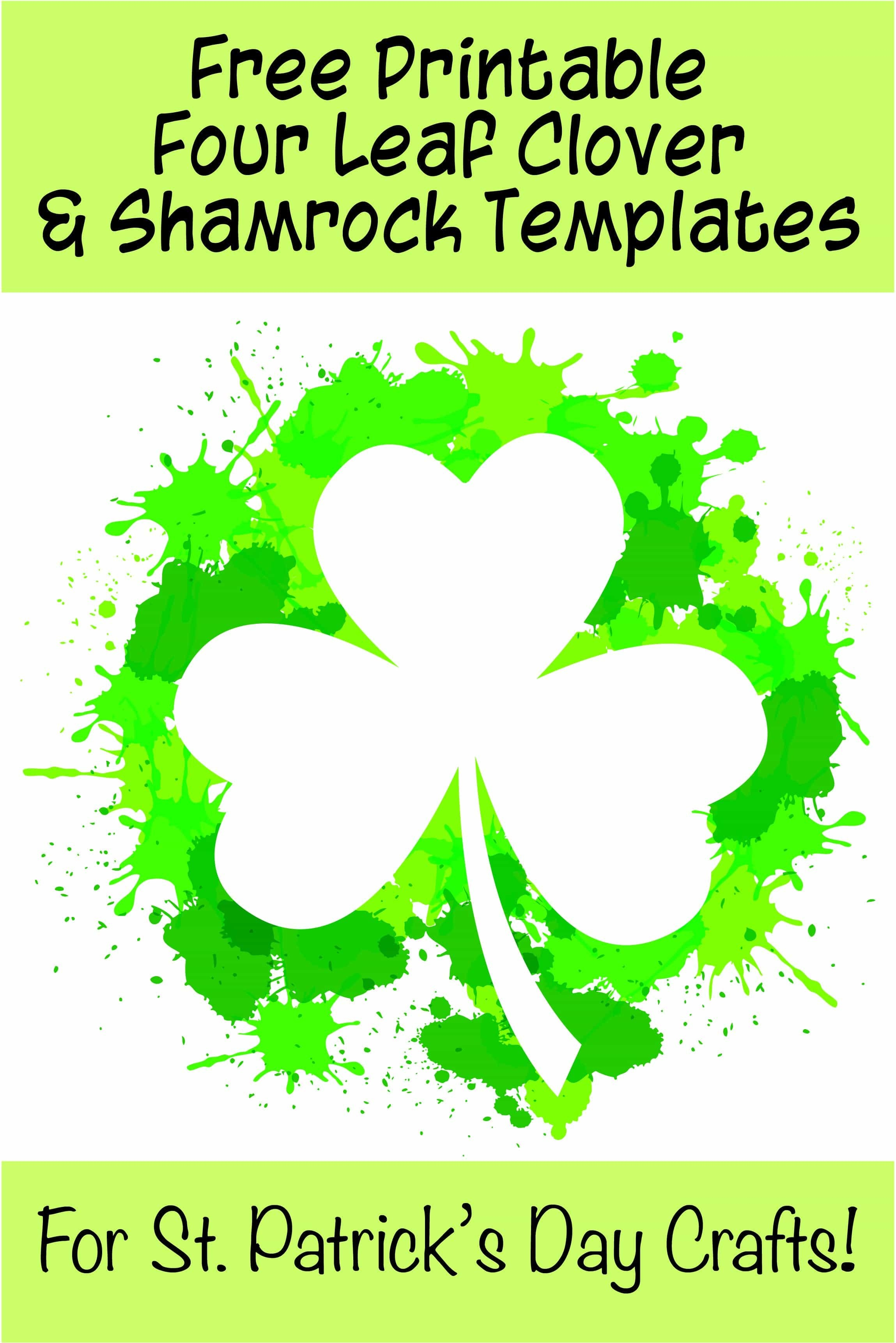 17+ Free Printable Four Leaf Clover & Shamrock Templates - The - Free Printable Shamrock Cutouts