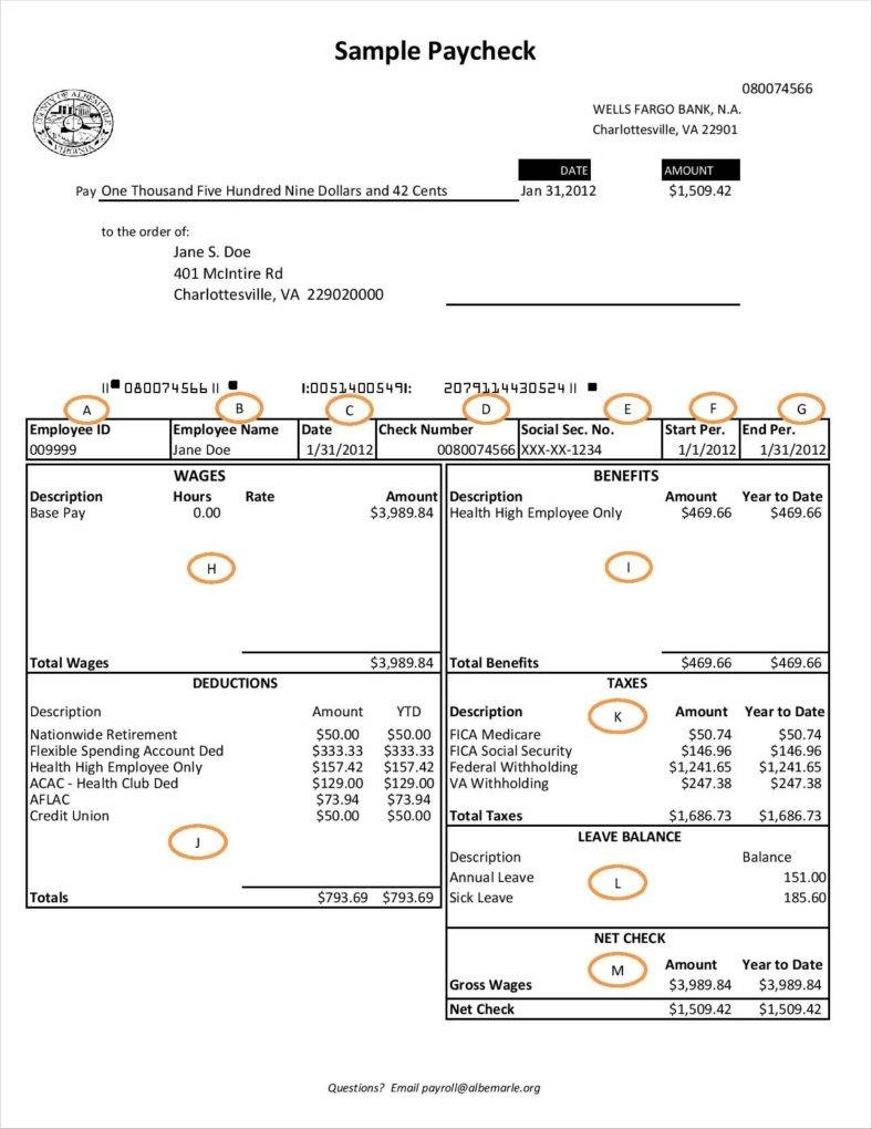 20+ Free Pay Stub Templates - Free Pdf, Doc, Xls Format Download - Free Printable Check Stubs