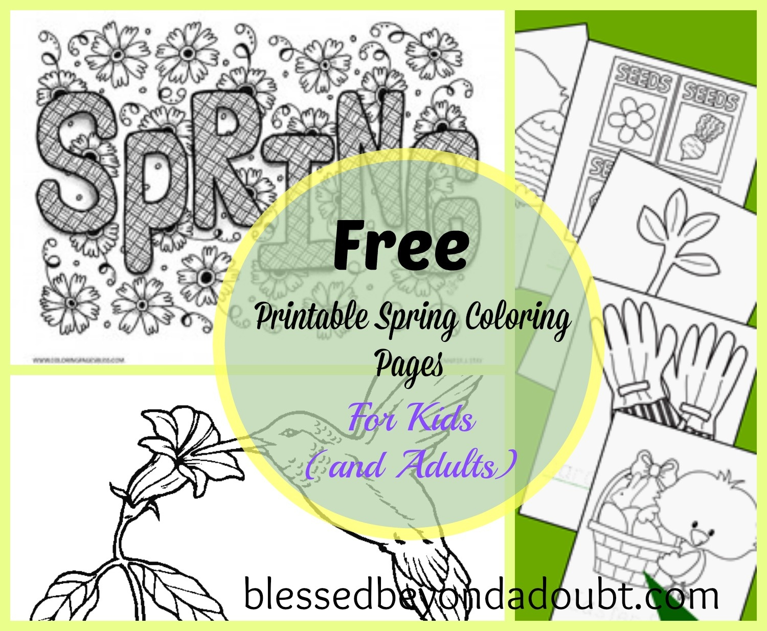 20 + Free Printable Spring Coloring Sheets For Kids (And Adults - Spring Coloring Sheets Free Printable
