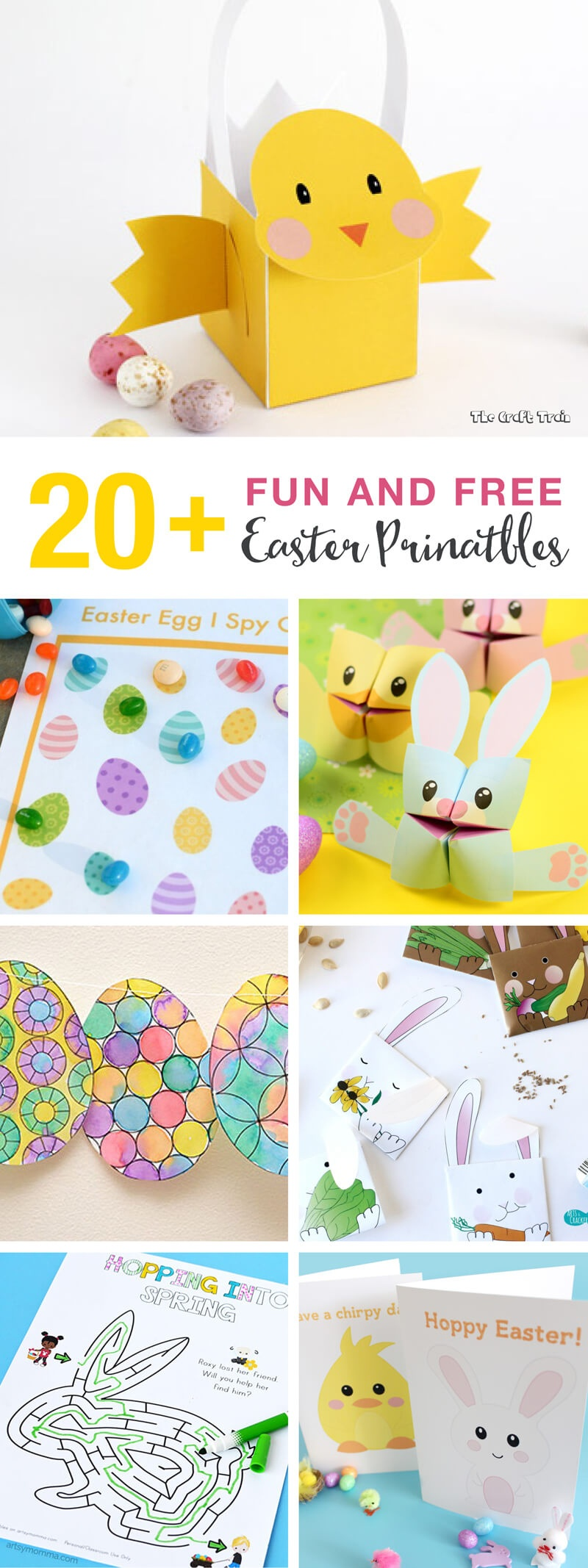 20+ Fun And Free Easter Printables For Kids   The Craft Train - Free Printable Craft Activities