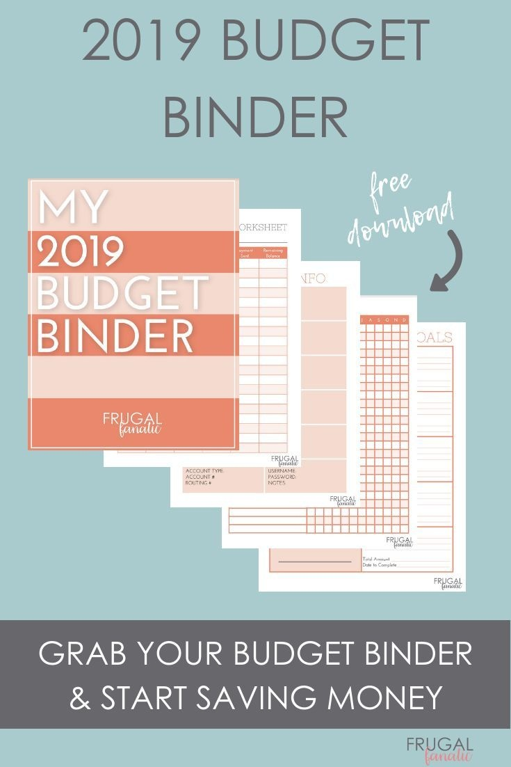 2019 Budget Binder Worksheets - Free Download | >>Frugal Living - Free Printable Budget Binder Worksheets