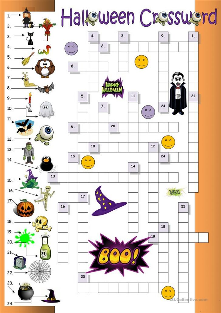 Halloween Crossword Printable Free