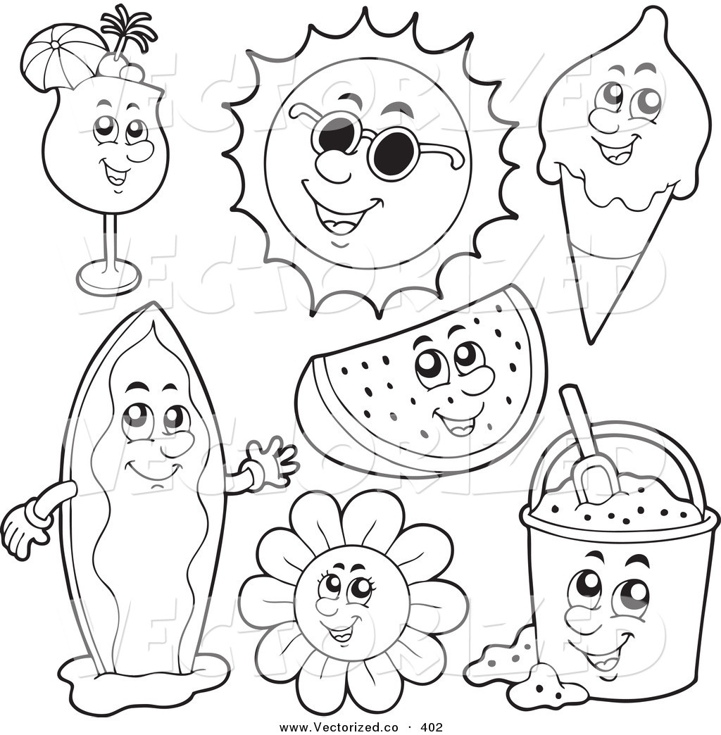 25 Free Printable Summer Coloring Pages Collections | Free Coloring - Summer Coloring Sheets Free Printable
