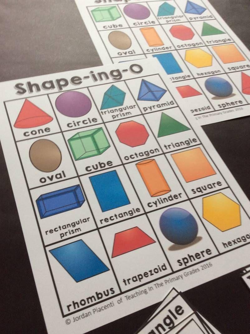 2D And 3D Shapes-Bingo | Math For First Grade | 2D, 3D Shapes - 3D Shape Bingo Free Printable