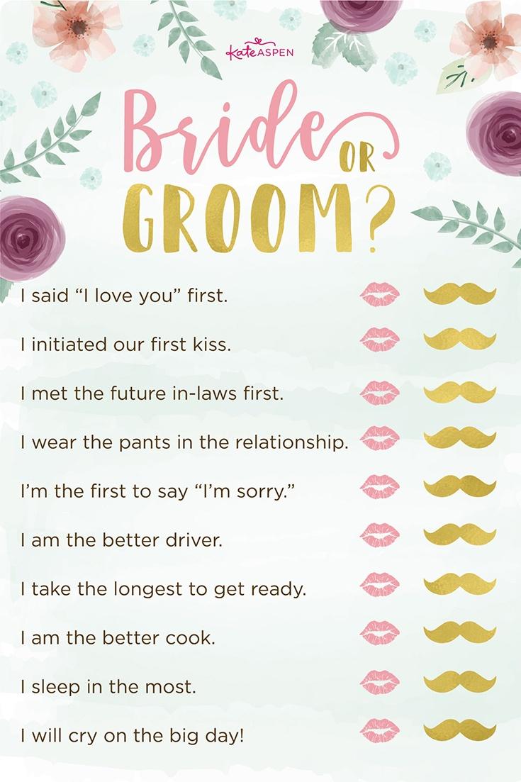3 Bridal Shower Games + Free Printables   Kate Aspen Blog - Free Printable Household Shower Games