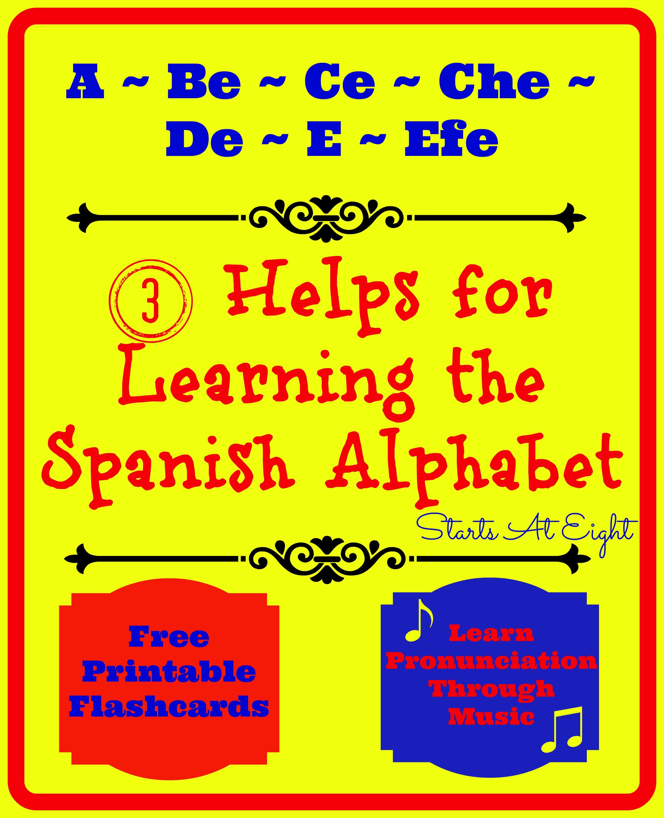3 Helps For Learning The Spanish Alphabet - Startsateight - Spanish Alphabet Flashcards Free Printable