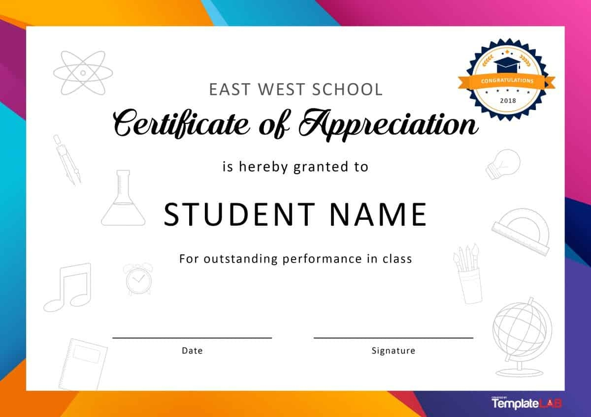 30 Free Certificate Of Appreciation Templates And Letters - Free Printable School Certificates Templates