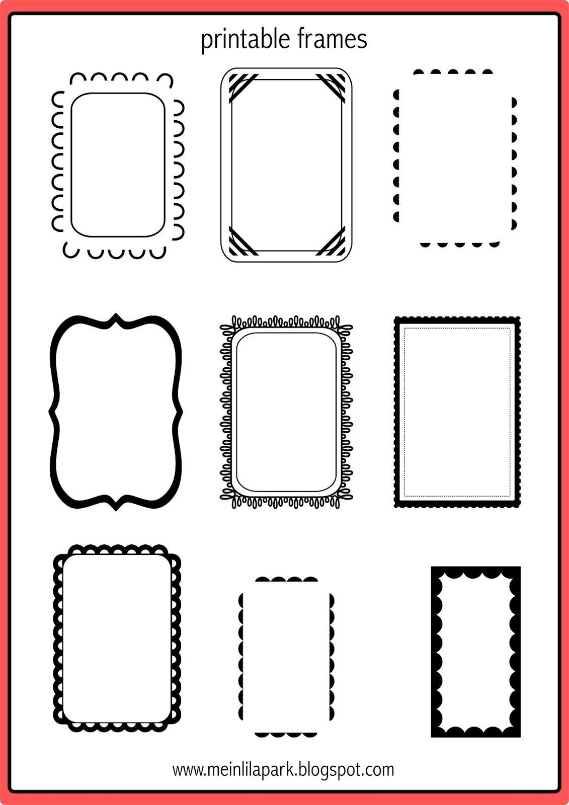 photograph relating to Free Printable Picture Frames titled Absolutely free Printable Frames For Sbooking Free of charge Printable
