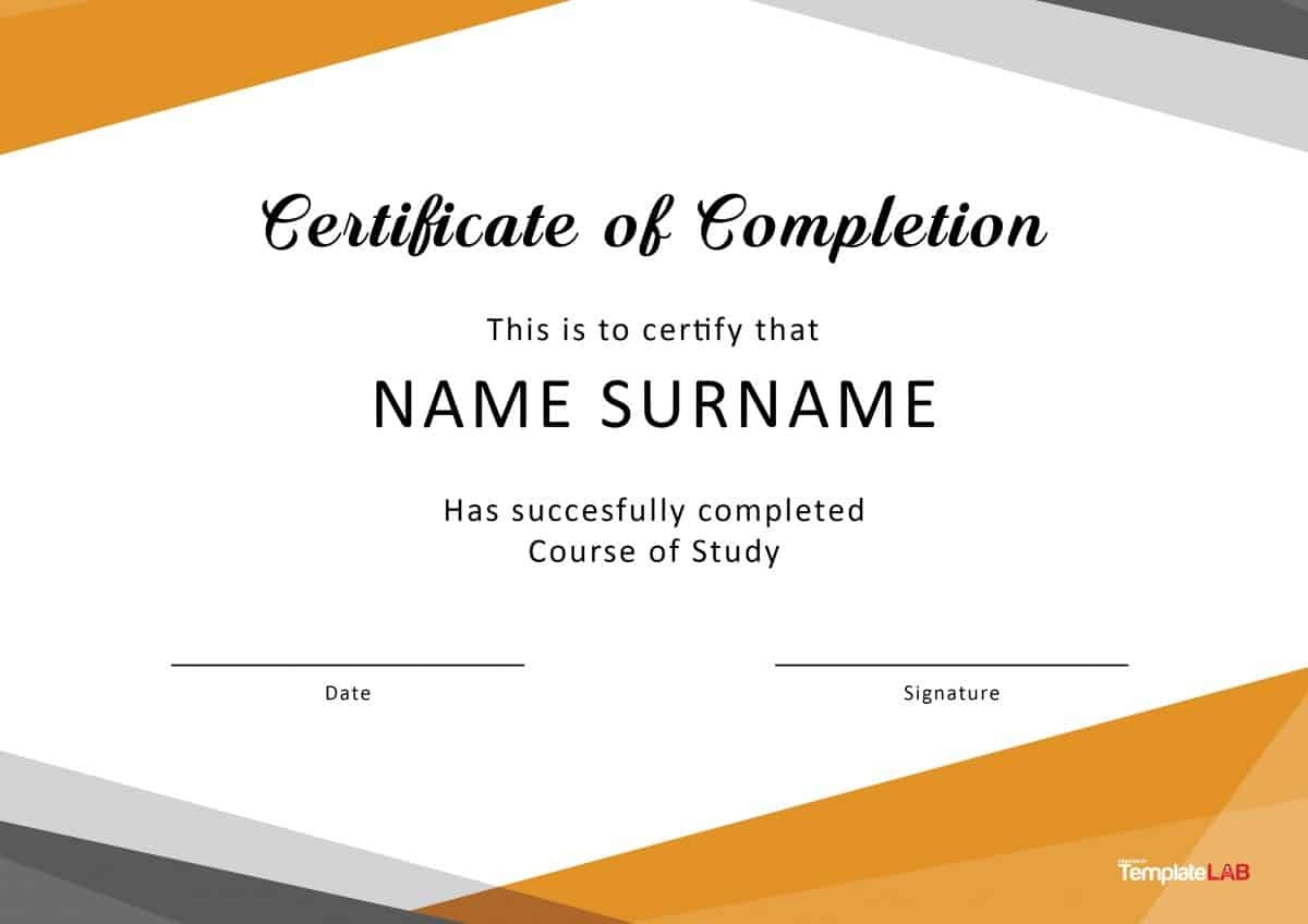 40 Fantastic Certificate Of Completion Templates [Word, Powerpoint] - Free Printable Certificates For Students