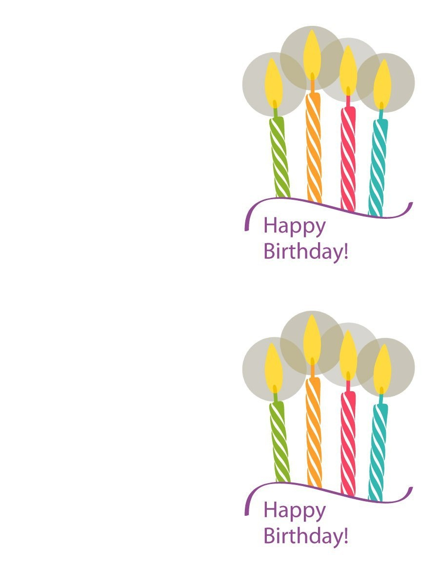 40+ Free Birthday Card Templates ᐅ Template Lab - Free Printable Happy Birthday Cards