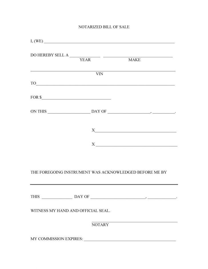 Free Printable Bill Of Sale