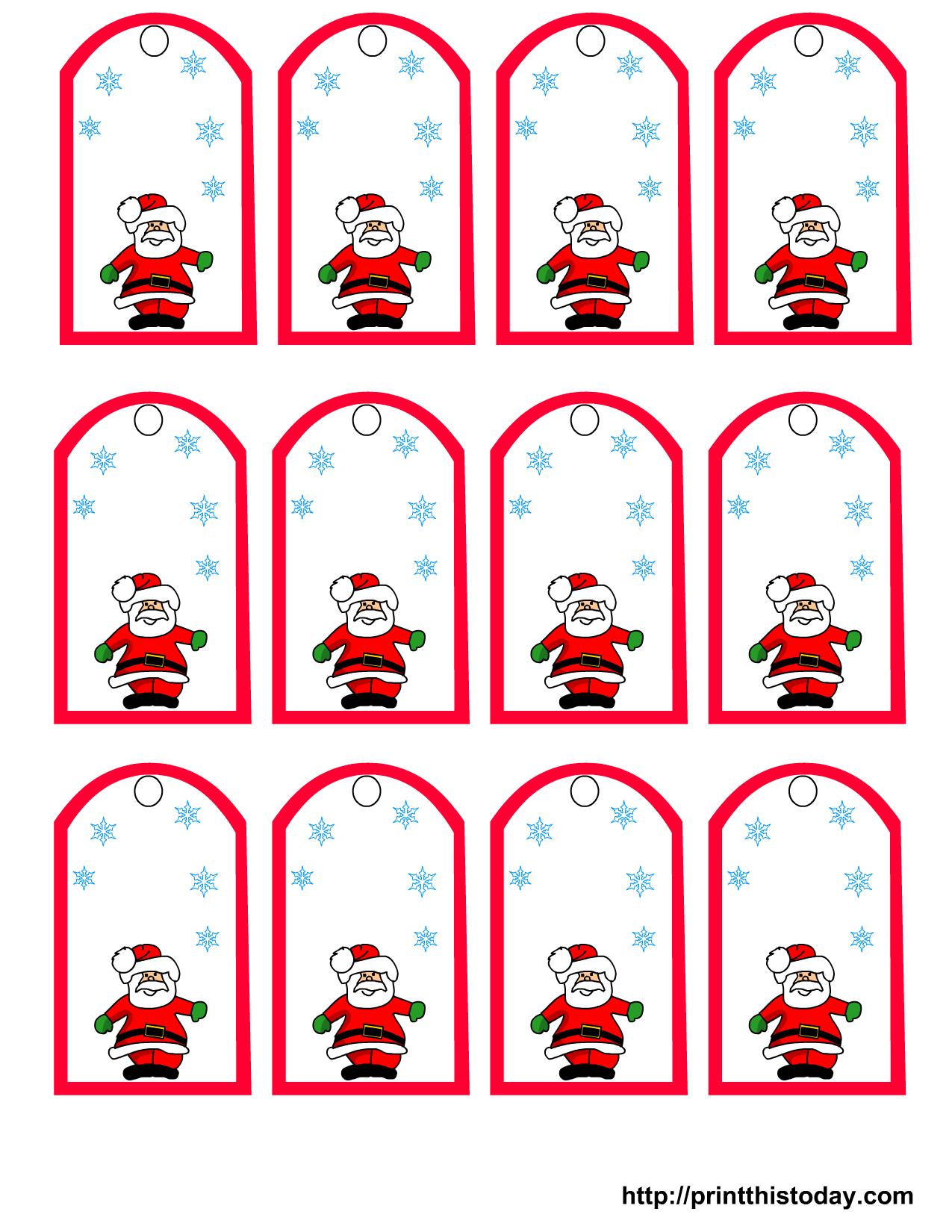 47 Free Printable Christmas Gift Tags (That You Can Edit And - Free Printable Santa Gift Tags