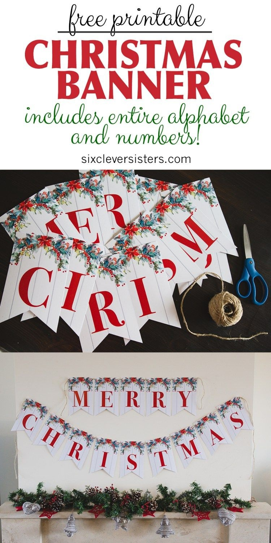 6 Free Printable Christmas Signs   Christmas   Merry Christmas - Free Printable Christmas Party Signs