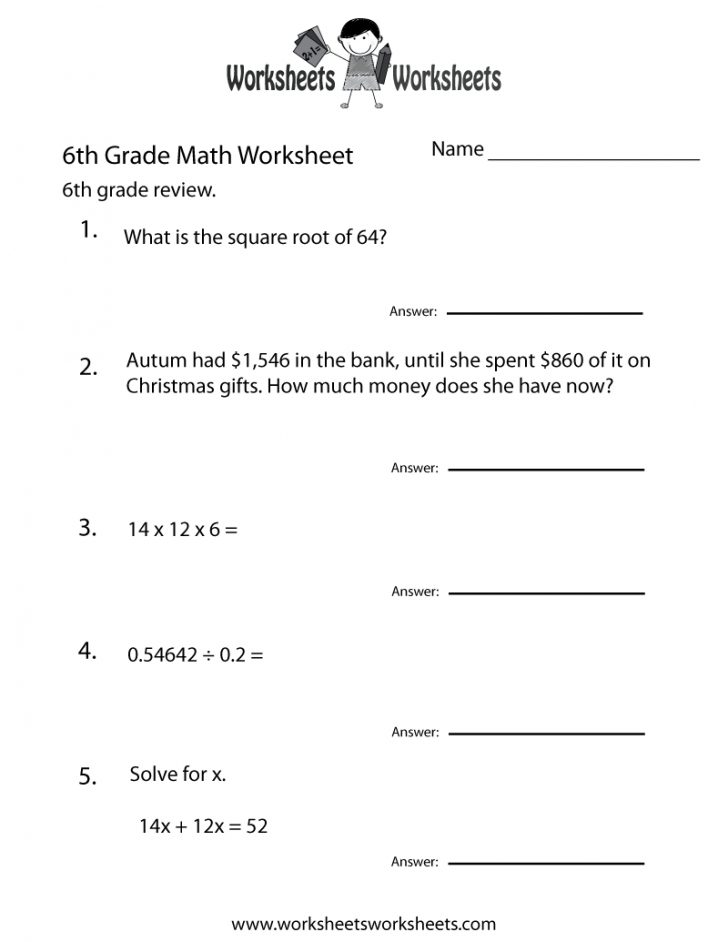 7Th Grade Math Worksheets Free Printable With Answers