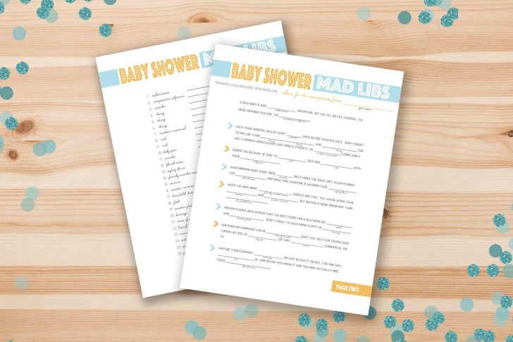 Free Baby Shower Games Printable Worksheets