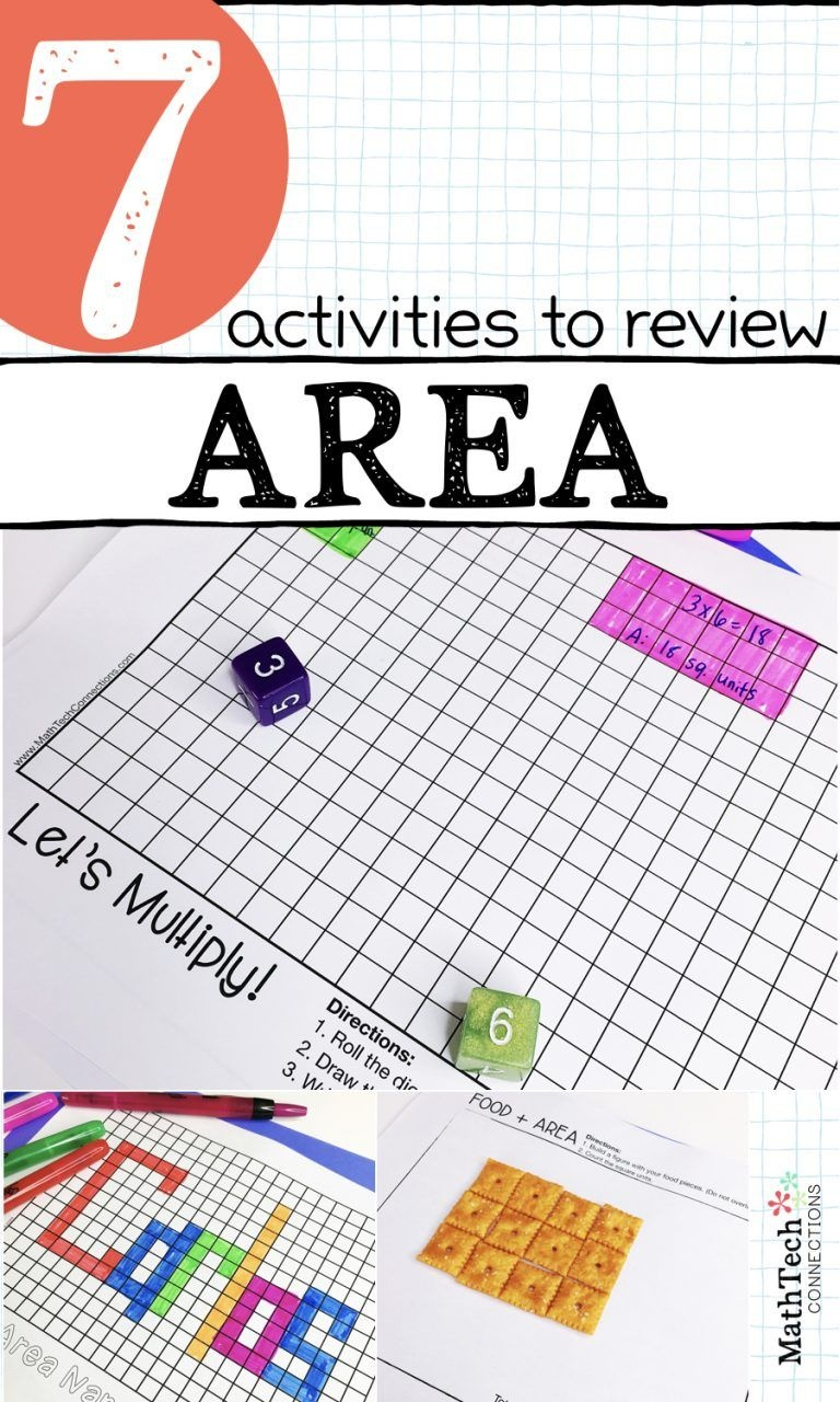 7 Activities To Review Area - Download Free Printable Math Centers - Free Printable Math Centers