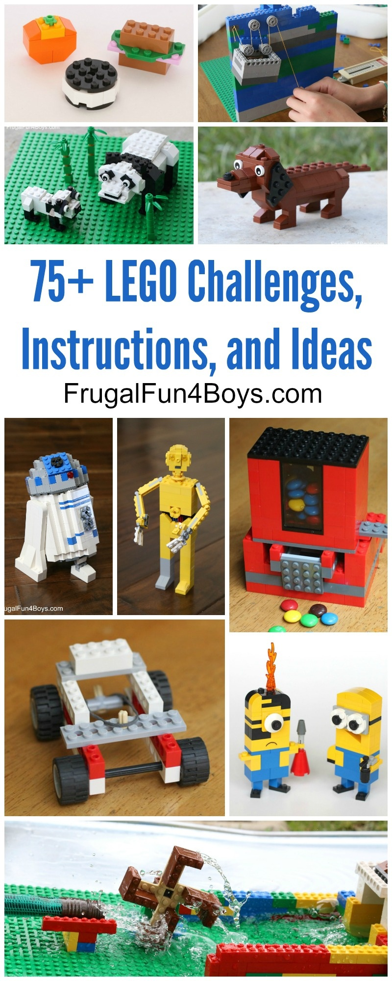75+ Lego Building Projects For Kids - Frugal Fun For Boys And Girls - Free Printable Lego Instructions