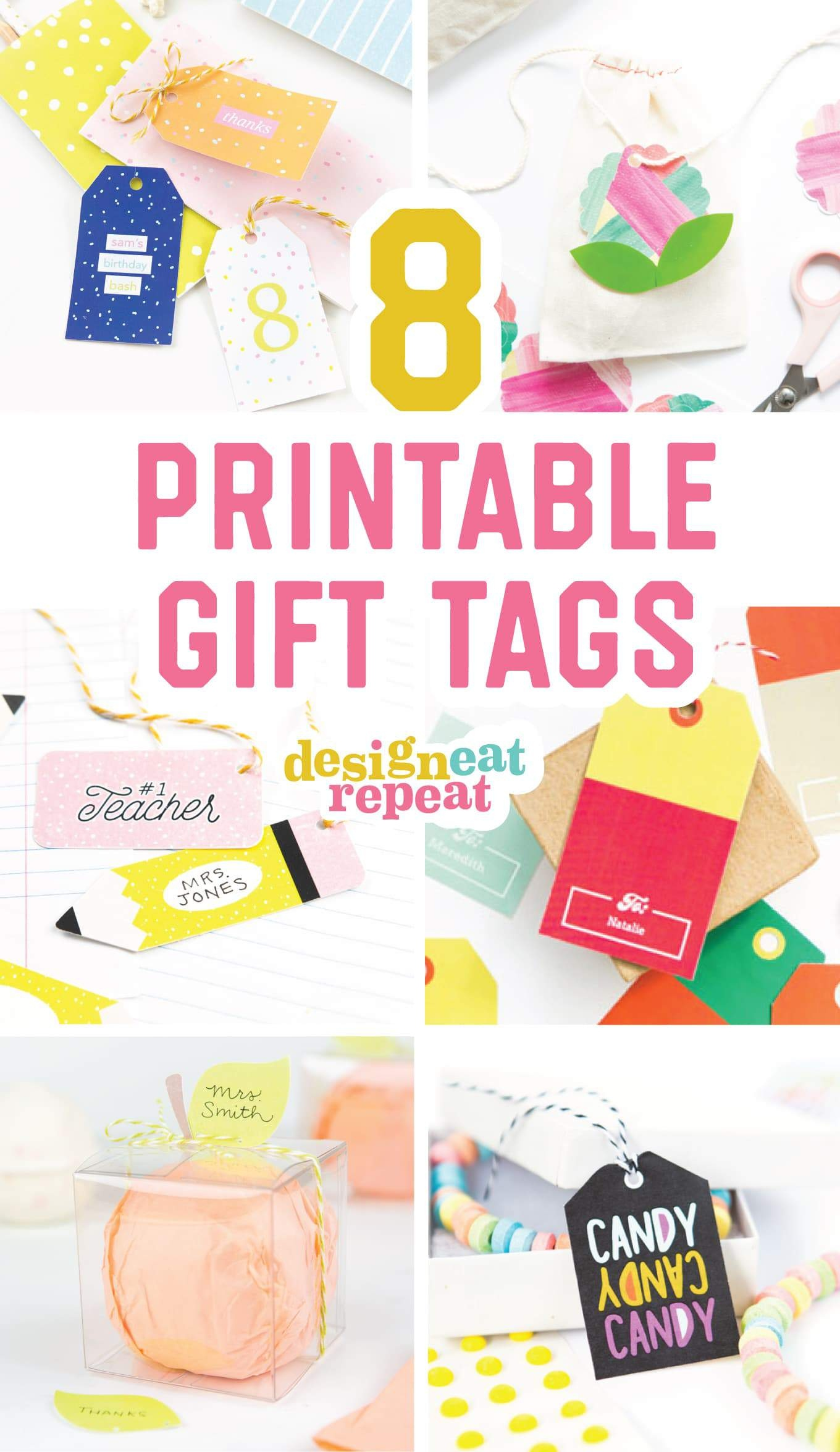8 Colorful & Free Printable Gift Tags For Any Occasion! - Free Printable Tags